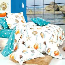 turquoise white and orange seas print beach themed tropical hawaiian style sea life 100 cotton damask