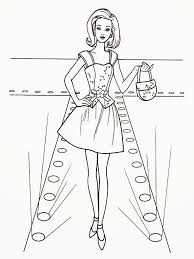 Small Picture Coloring Fashion Model Coloring Pages