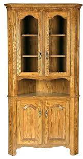 oak hutch cabinet solid wood corner kitchen cabinets with glass doors