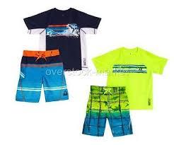 New Boys Gerry 2 Pc Swim Set Lightweight Rash Guard Upf 50
