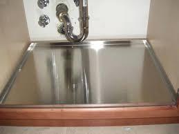 kitchen sink leaking underneath plus under kitchen sink mat luxury under sink leak tray sink ideas