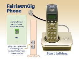 phone service from fairlawngig� fairlawngig home telephone wiring connectors if you are signed up for internet service from fairlawngig, you may also want to get your phone service through the same fiber network
