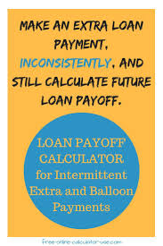 Loan Payoff Schedule Calculator Loan Pay Off Calculator For Irregular Extra And Balloon
