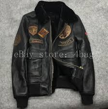 details about genuine lamb fur lined g1 mens real leather jacket coat flight er parka coat