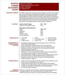 accounting clerk resume sample resume sample accounting