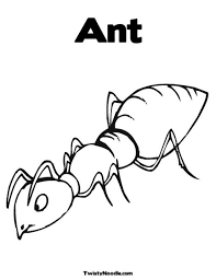 Small Picture Ant Coloring Page Letter of the week Pinterest School