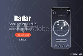 sales kit template mobile app radar screen template with modern design