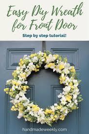 easy diy spring summer wreath
