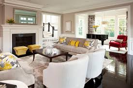 parkwood road residence living room 2 example of an expansive transitional open concept living room design all white furniture design