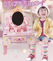 kids toys new arrival princess deluxe simulation dressing table assemble baby wooden toys furniture child birthday gift uqz3owvl