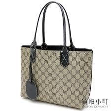 kaitorikomachi gucci reversible gg leather tote bag shoulder bag small size gg スプリームキャンバスブラックショッピングバッグショルダー 372613 a9810 9769