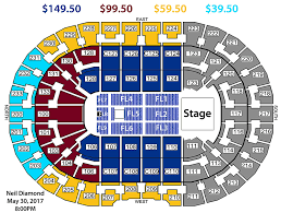 Concert Seating Chart Quicken Loans Arena Neil Diamond 50th Anniversary Tour