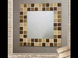 Decorative Tile Frames Easy DIY ideas for mirror frame decorations YouTube 20