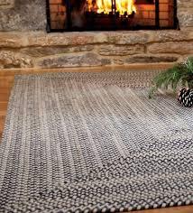 7 x 9 american made bear creek rectangular braided wool and nylon blend