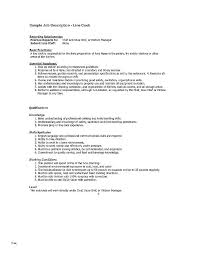 Fry Cook Job Description Cook Job Description For Resume Custom Cook Job Description Resume