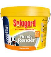 exterior render ready mix. wattyl solagard ready render fine/medium exterior mix