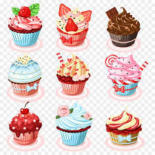 Cupcake Birthday Cake Muffin Sponge Cake Clip Art Ice Cream Png