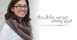 Double Wrap Infinity Scarf Pattern Little Monkeys Crochet