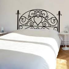 top vintage bed headboard wall sticker oakdene designs wrought iron headboardwall decal square plant wall sticker