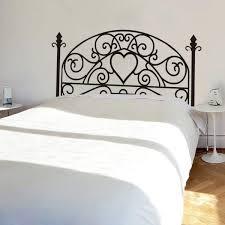 top vintage bed headboard wall sticker oakdene designs wrought iron headboardwall decal square plant wall sticker