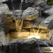 Indoor Rock Garden Water Fountain Outdoor Garden Indoor Decor Lights Light Backyard