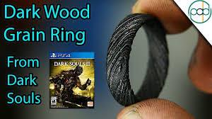 Making a Dark <b>Souls Wood</b> Grain <b>Ring</b> out of Damascus Steel ...