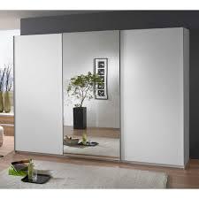 Schlafzimmerschrank Linstead Mit Spiegel Kleiderschrank Weiß 300 Cm