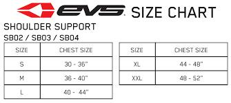 Evs Knee Brace Size Chart Evs Shoulder Brace Size Guide Mxstore Help