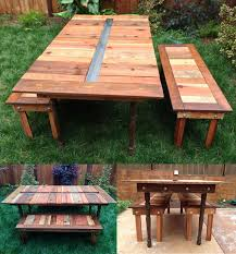 diy outdoor table with cooler. Perfect Diy Picnic Table With Gutter Cooler In Middle Inside Diy Outdoor With E