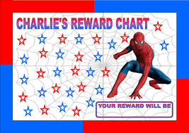 Spiderman Reward Chart Re Usable Reward Chart Including Free Star Stickers And Pen