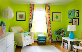 Minime Playroom Design And Wall Green Color