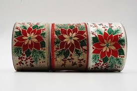 Poinsettia Filigree Swirl Ribbon Versorgung Mit Textur