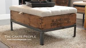 wood crate furniture. Unforgettable Wood Crate Ottoman Diy Storage Wooden Upholstered Ideas Furniture Size 1920 T