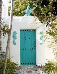 Turquoise front door Colors House House Beautiful 25 Best Front Door Paint Colors Paint Ideas For Front Doors