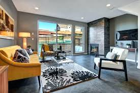 concrete floor living room modern with floors by homes cost