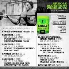 Arnold Exercise Chart Arnold Blueprint Workout 8 Arnold Schwarzenegger Workout