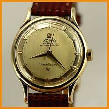omega constellation wristwatches vintage omega constellation 2700 pie pan chronometer 18k gold auto men watch