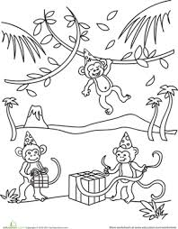 Small Picture Birthday Monkey Worksheet Educationcom