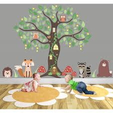 enchanted forest nursery wall decals on wall art stickers nursery uk with enchanted forest wall art sticker