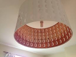 large white bronze ikea lampshade