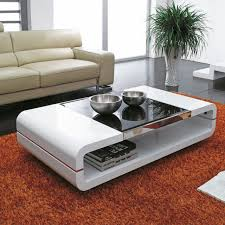 high gloss white black glass top coffee table side end tables living room