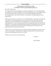 General Cover Letter Format General Cover Letters Leading Professional General Manager Cover 16