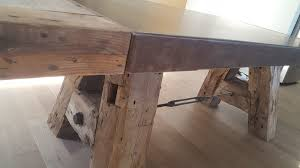 reclaimed wood and steel dining table kitchener ontario