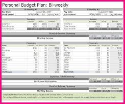 14 Bi Weekly Budget Worksheet