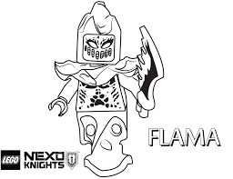 Small Picture LEGO Nexo Knights Coloring Pages Free Printable LEGO Nexo