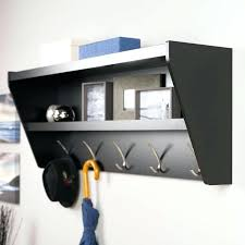 Wall Mounted Coat Rack With Hooks And Shelf Wall Mounted Coat Hooks With Shelf Floating Entryway Shelf Coat Rack 44