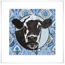 art print on paisley print wall art with dairy cow on paisley farm ranch canvas wall art greenbox