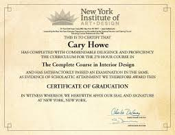 certificate of interior design. Brilliant Certificate Nifty Certificate For Interior Design R41 On Fabulous Wallpaper With  With Of