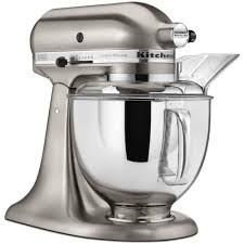 kitchenaid custom metallic 5 qt brushed nickel stand mix