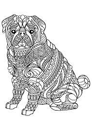 Livre Gratuit Chien Bulldog Chiens Coloriages Difficiles Pour